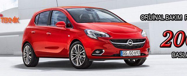 Opel Başarı Teknikte Kampanya, Orjinal Bakım 200 TL